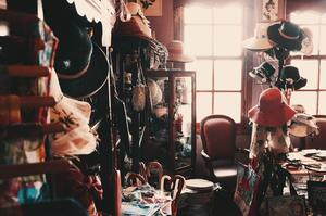 clutter in a room