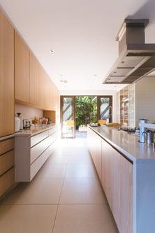 kitchen opening into garden