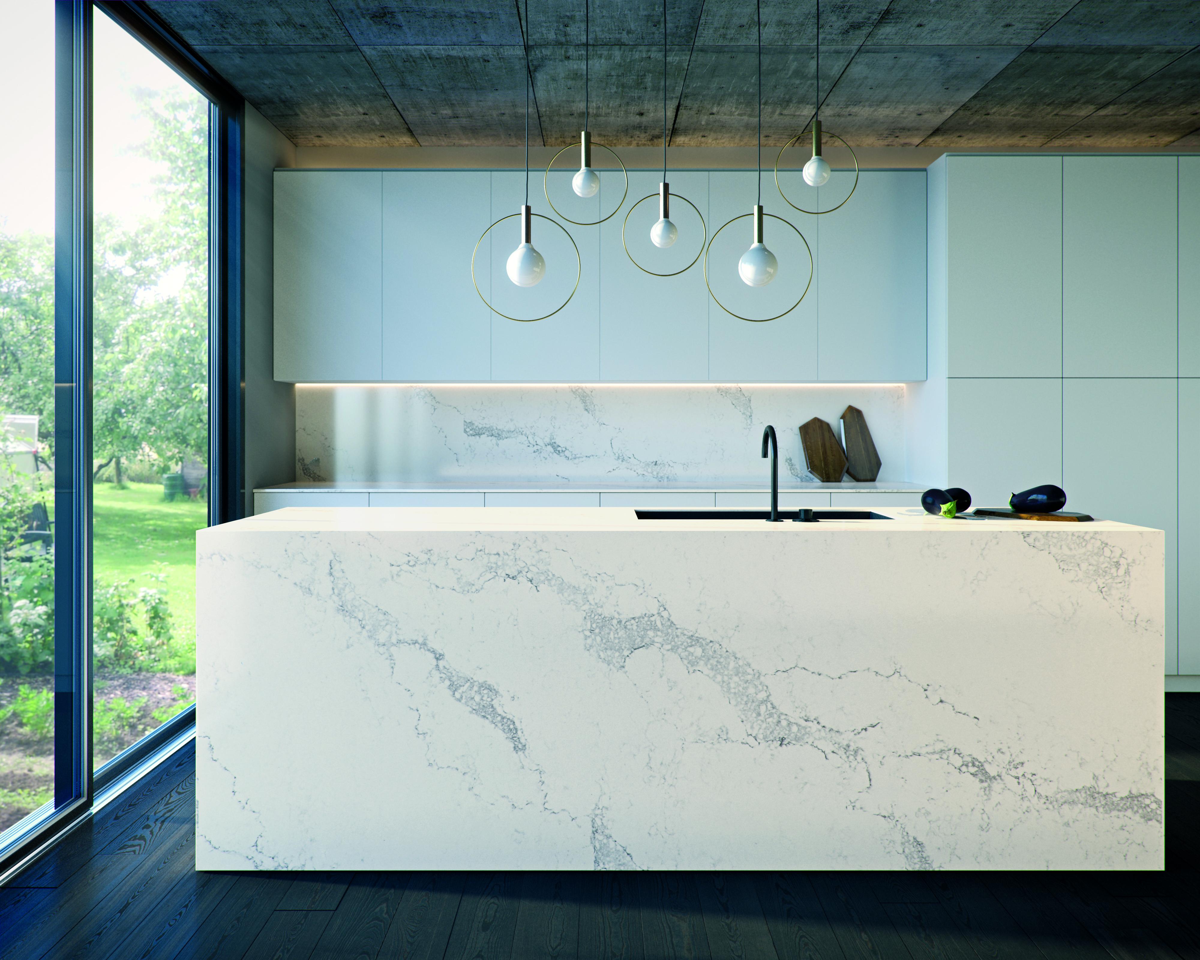marble white kitchen DM Design