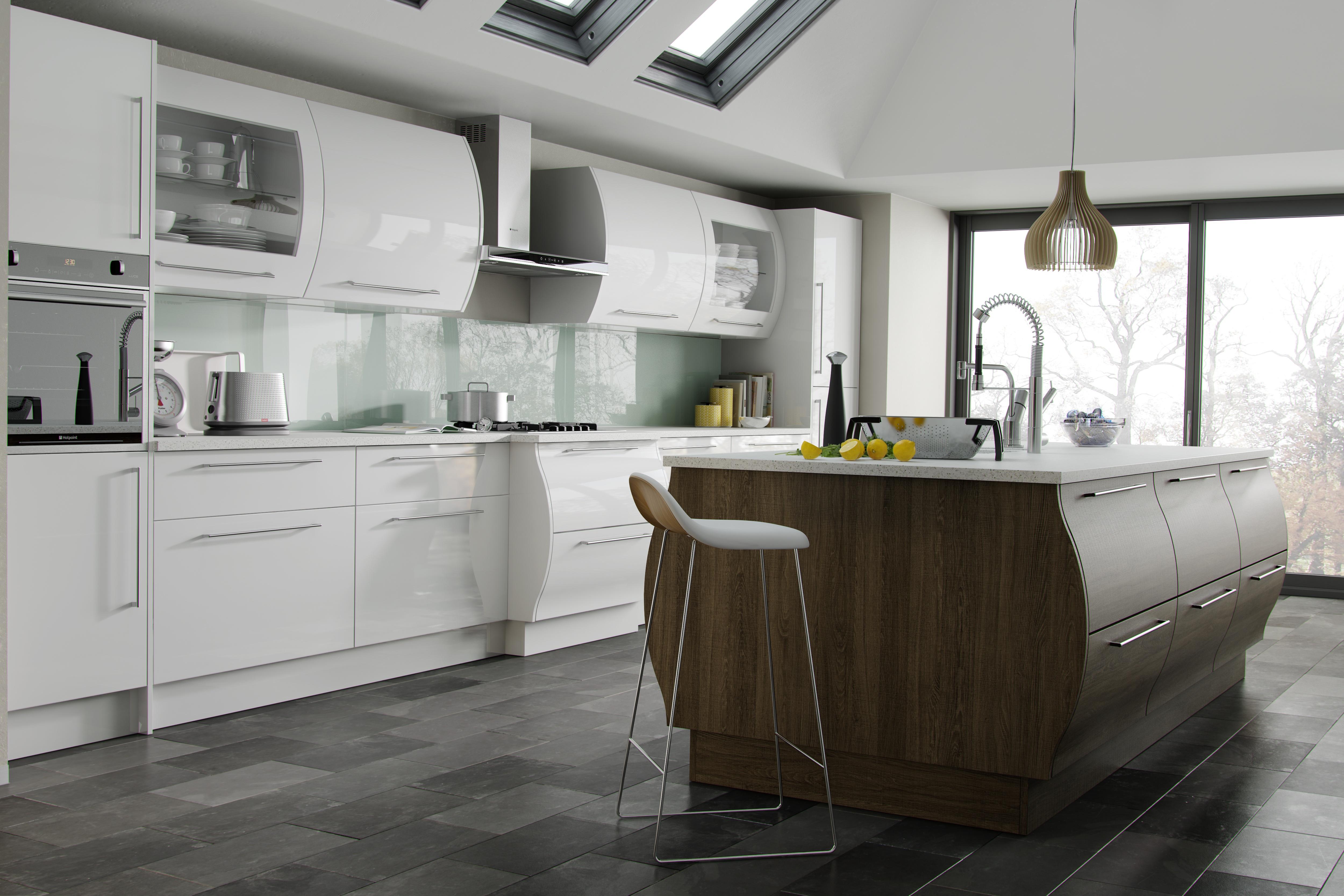 dark wood floor kitchen